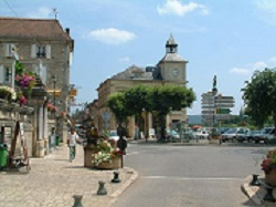 Town square of Le Bugue